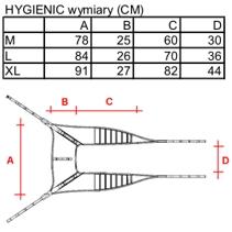 Wymiary podnośnika elektrycznego Eagel Hygienic